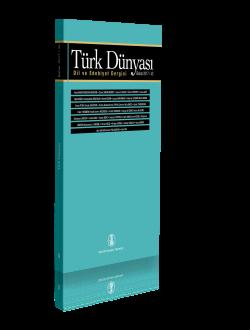 Türk Dünyası Dil ve Edebiyat Dergisi: Bahar 2017/ 43. Sayı-Bahar 2017/ 43. Sayı, 0