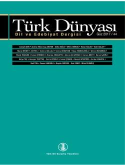Türk Dünyası Dil ve Edebiyat Dergisi: Güz 2017/ 44. Sayı, 0