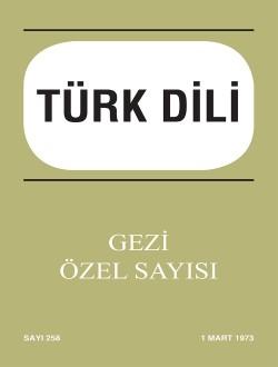 Türk Dili Dergisi Gezi Özel Sayısı, 0