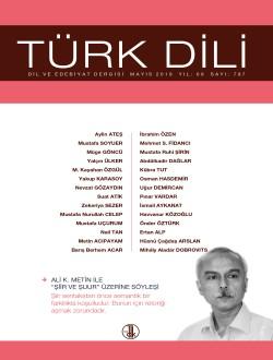 Türk Dili (Mayıs 2018), 2018