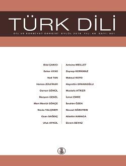 Türk Dili (Eylül 2018), 2018