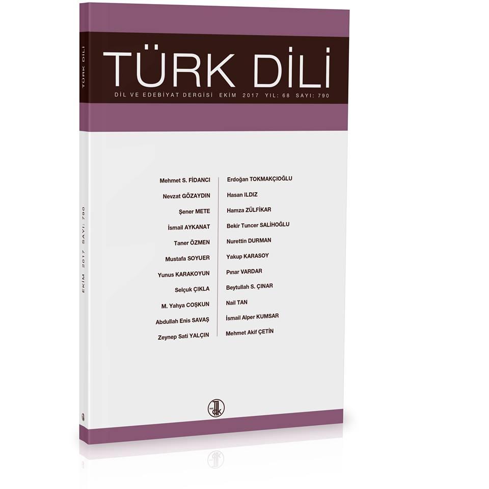 Türk Dili (Ekim 2017), 2017