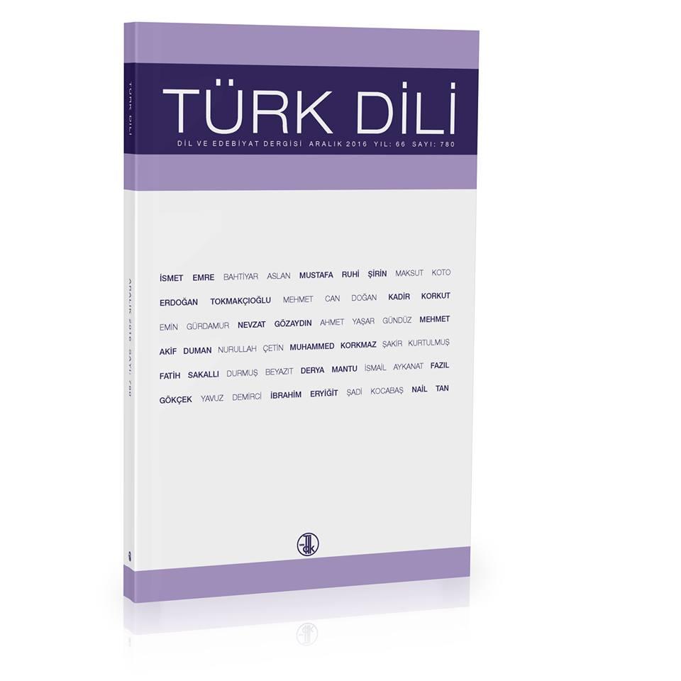 Türk Dili (Aralık 2016), 2016