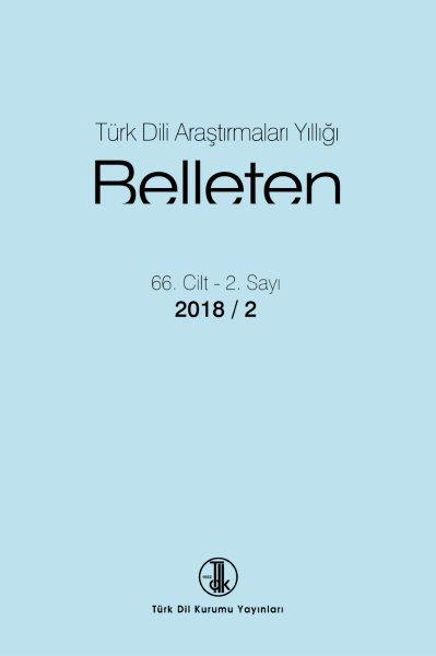 Türk Dili Araştırmaları Yıllığı: Belleten 2018-2, 2019