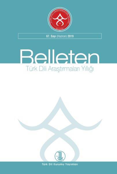 Türk Dili Araştırmaları Yıllığı: Belleten 2019-1, 2019
