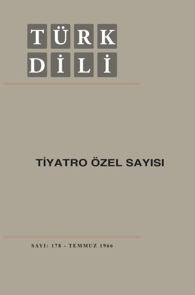 Türk Dili Tiyatro Özel Sayısı, 2020