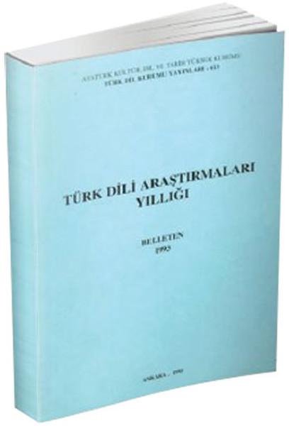 Türk Dili Araştırmaları Yıllığı: Belleten 1993, 1995