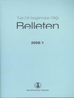 Türk Dili Araştırmaları Yıllığı: Belleten 2008/I, 2008