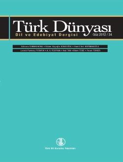 Türk Dünyası Dil ve Edebiyat Dergisi: Güz 2012/ 34. Sayı, 0