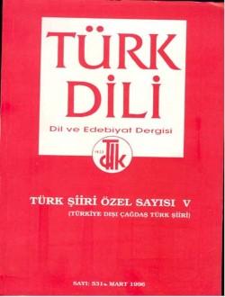 Türk Dili Dergisi Türkiye Dışı Çağdaş Türk Şiiri Özel Sayısı, 0