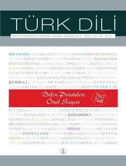 Türk Dili Dergisi Dilin Perdeleri Özel Sayısı, 2017