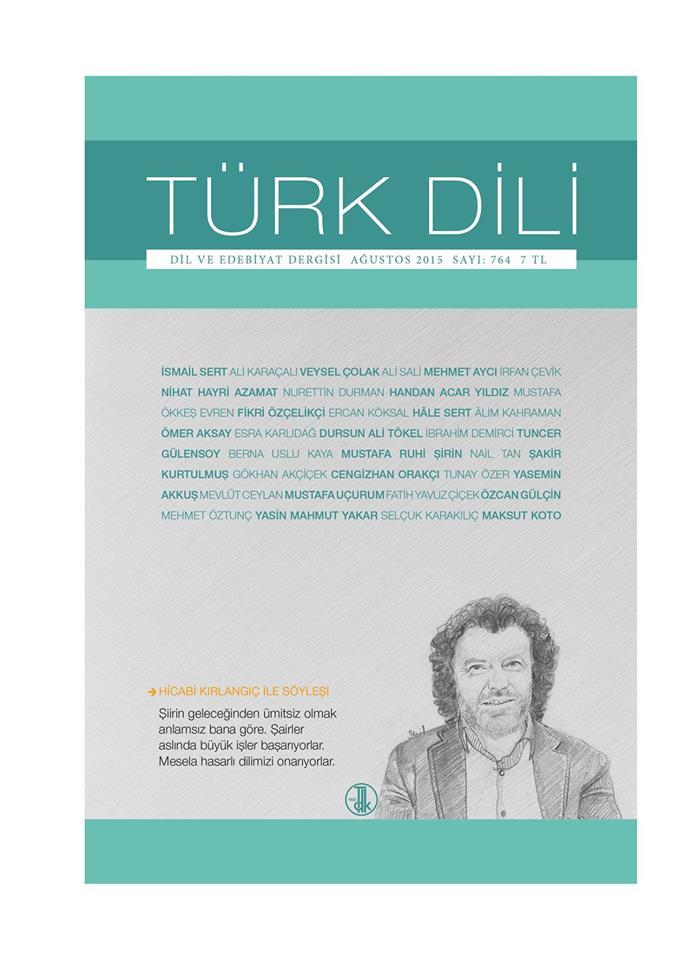 Türk Dili (Ağustos 2015), 2015
