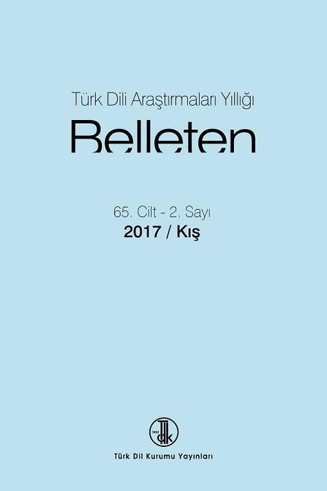 Türk Dili Araştırmaları Yıllığı: Belleten 2017/2, 0