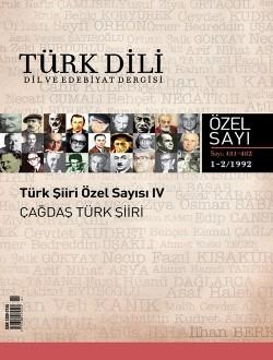 Türk Dil Dergisi Çağdaş Türk Şiiri Özel Sayısı, 2017