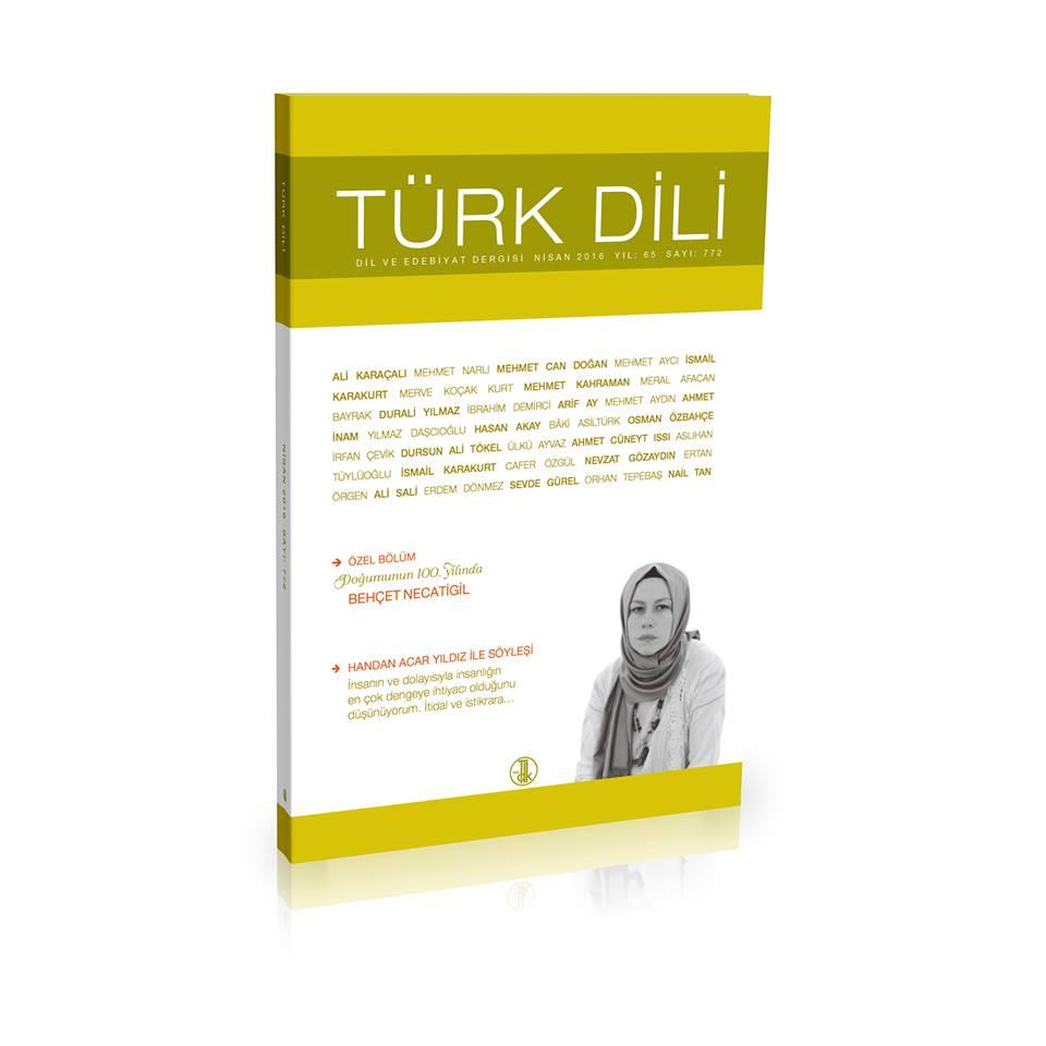 Türk Dili (Nisan 2016), 2016
