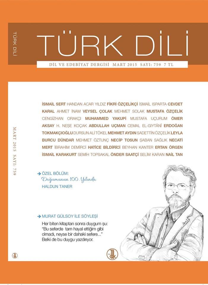 Türk Dili (Mart 2015), 2015