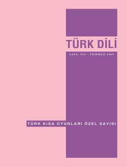 Türk Dili Dergisi Türk Kısa Oyunları Özel Sayısı, 2018