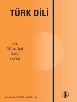 Türk Dili Dergisi Dil Öğretimi Özel Sayısı, 2018