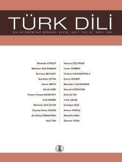 Türk Dili (Eylül 2017), 2017