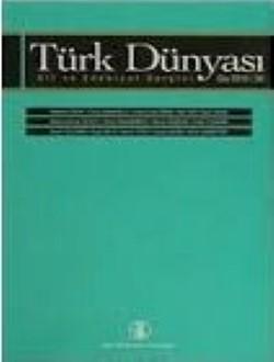 Türk Dünyası Dil ve Edebiyat Dergisi: Güz 2008/ 26. Sayı, 0