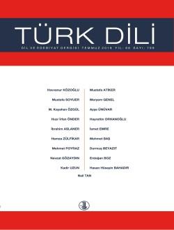 Türk Dili (Temmuz 2018), 2018
