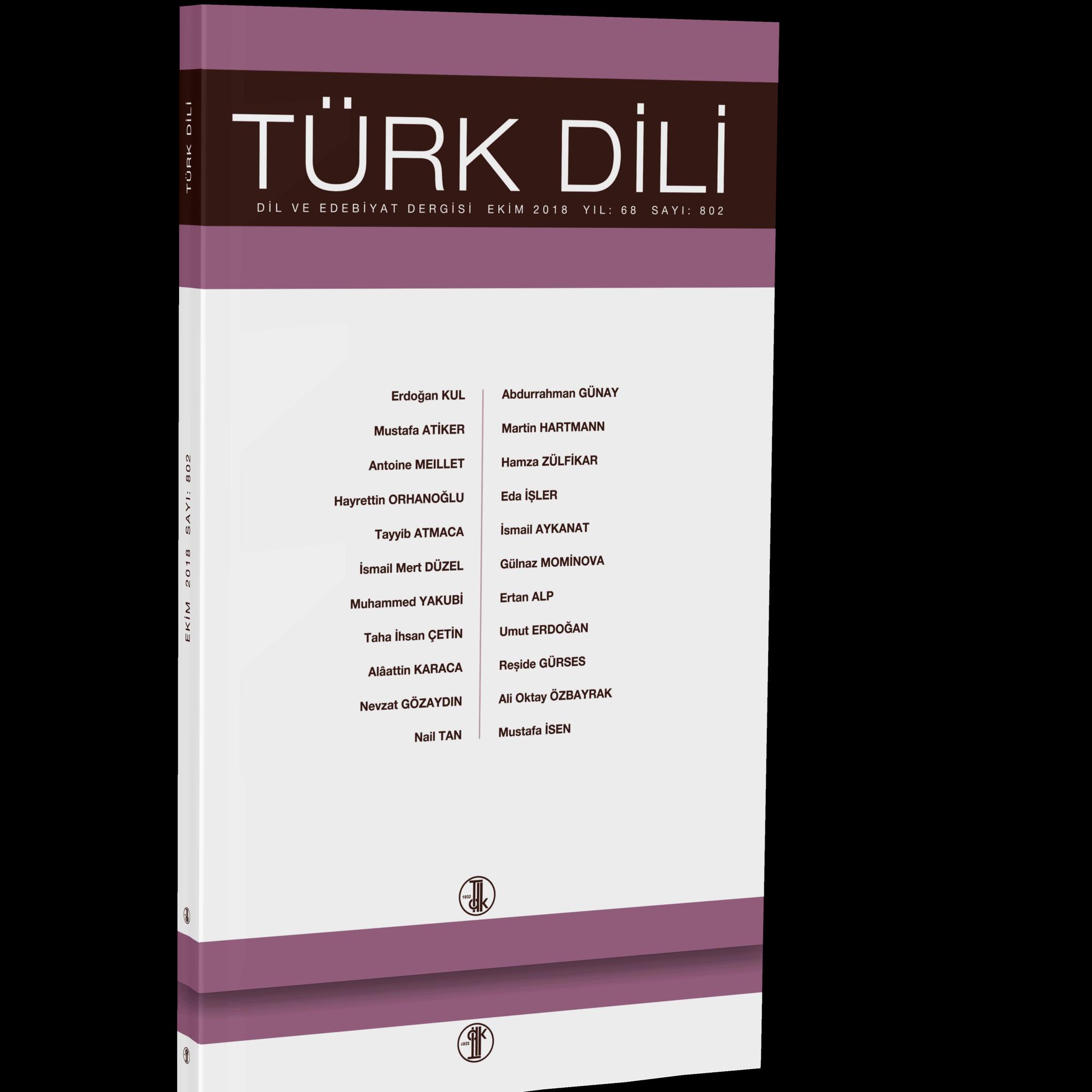 Türk Dili (Ekim 2018), 2018