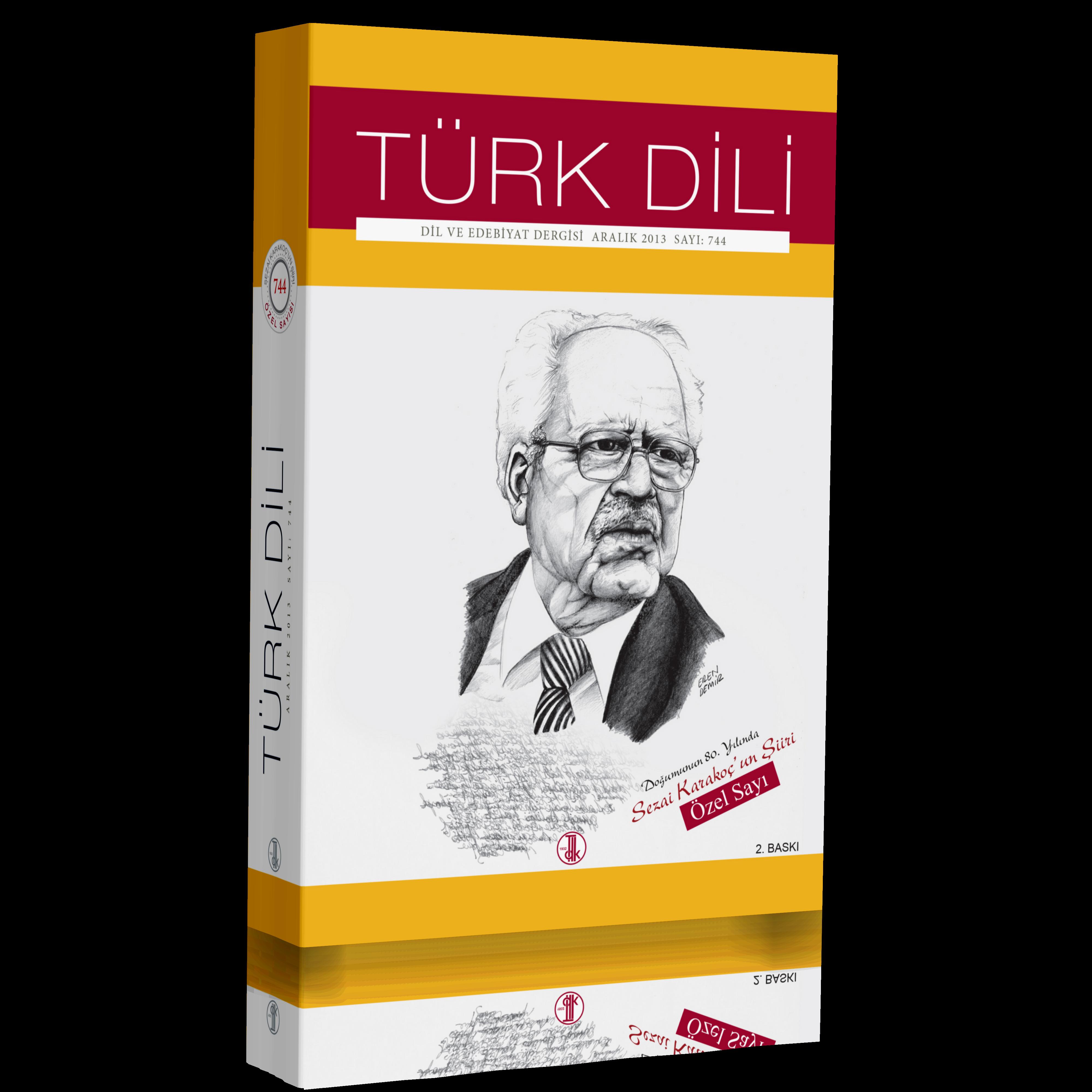 Türk Dili Dergisi Doğumunun 80. Yılında Sezai Karakoç'un Şiiri Özel Sayısı, 2018