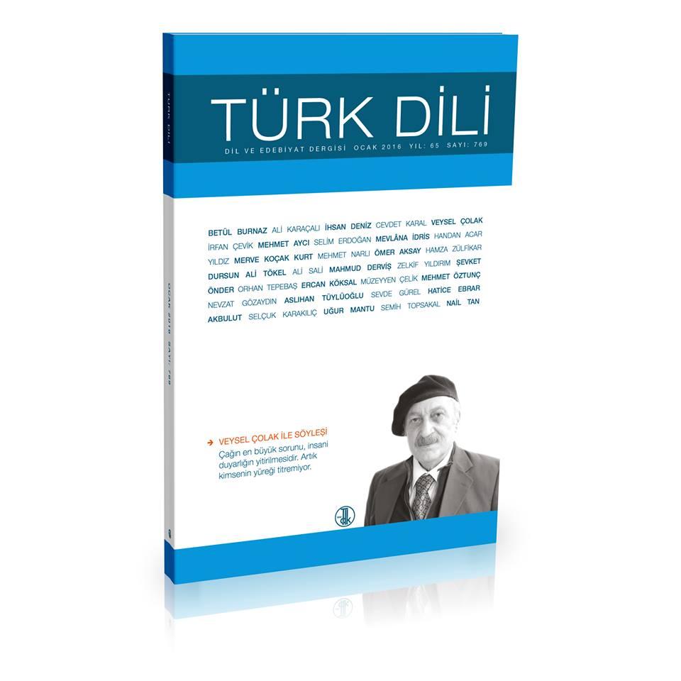 Türk Dili (Ocak 2016), 2016