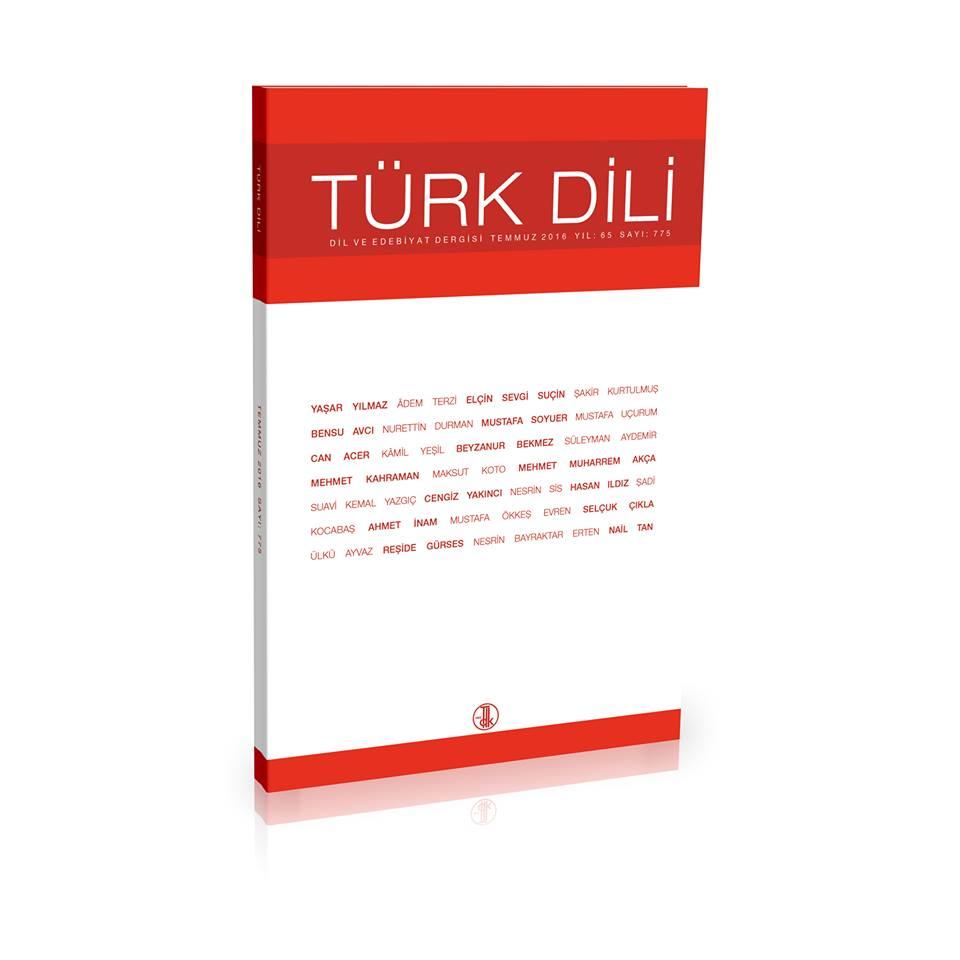 Türk Dili (Temmuz 2016), 2016