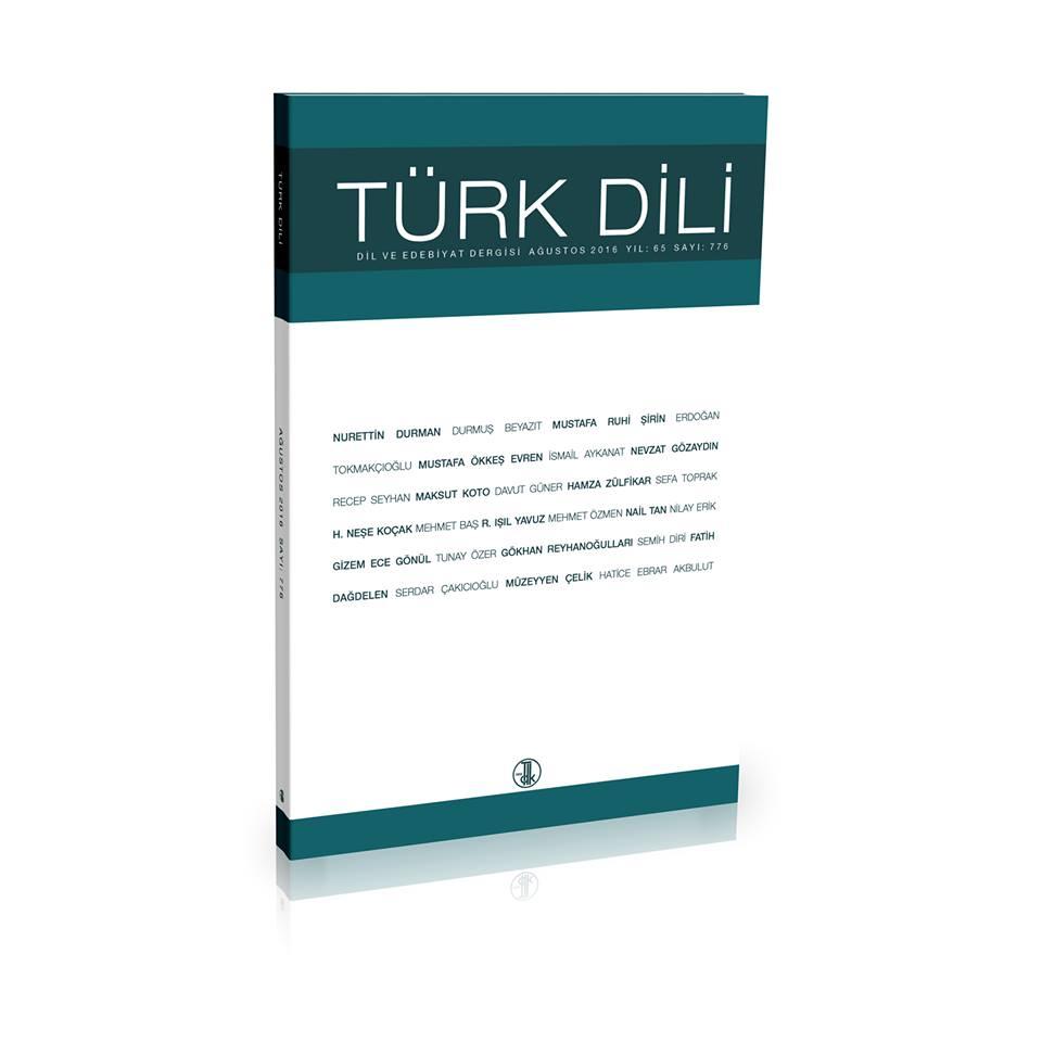 Türk Dili (Ağustos 2016), 2016