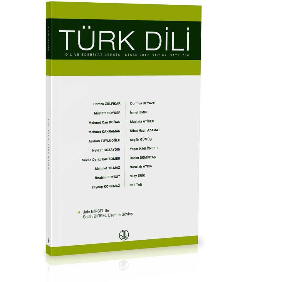 Türk Dili (Nisan 2017), 2017