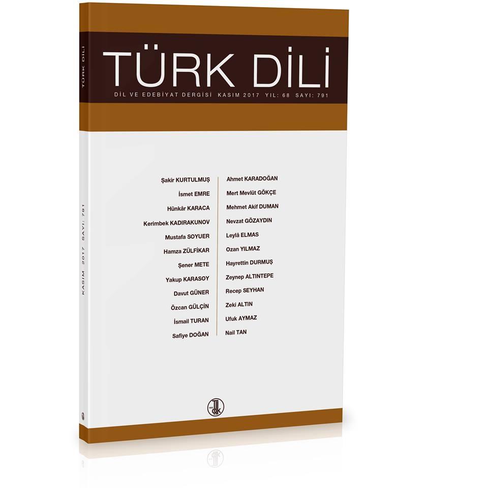 Türk Dili (Kasım 2017), 2017