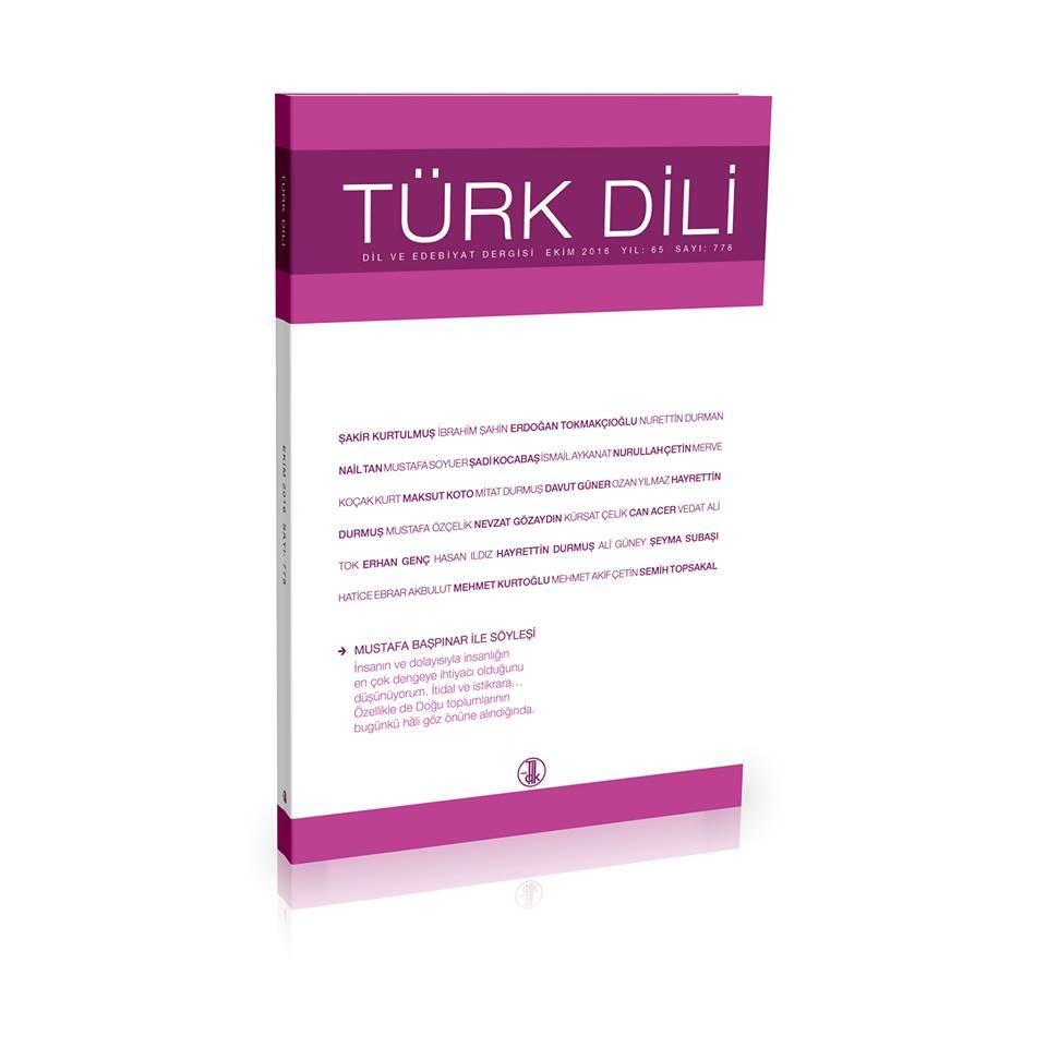 Türk Dili (Ekim 2016), 0