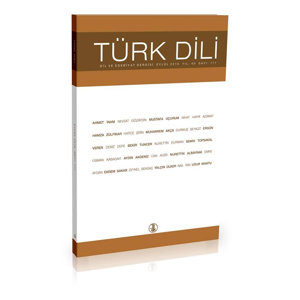 Türk Dili (Eylül 2016), 2016