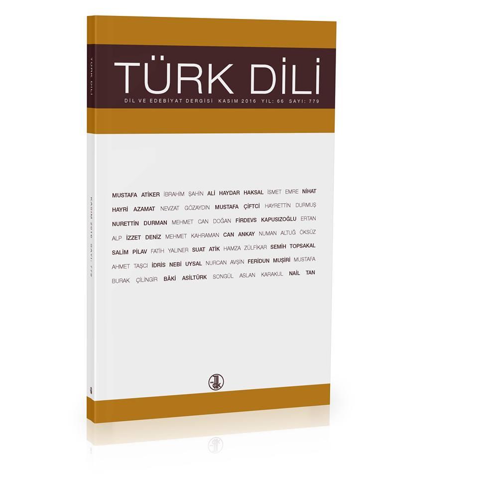 Türk Dili (Kasım 2016), 2016