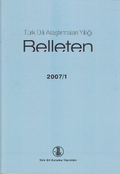 Türk Dili Araştırmaları Yıllığı: Belleten 2007-I, 2010