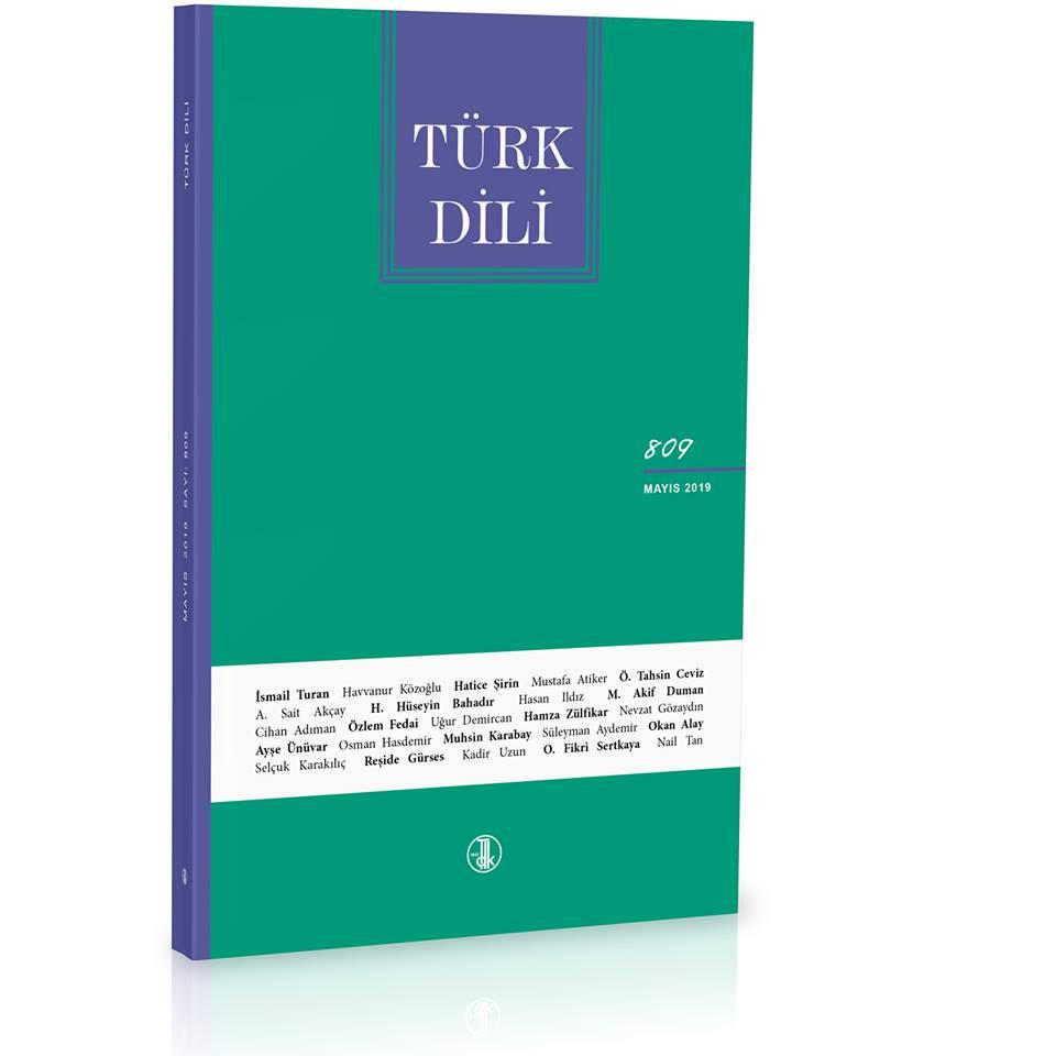 Türk Dili (Mayıs 2019), 2019