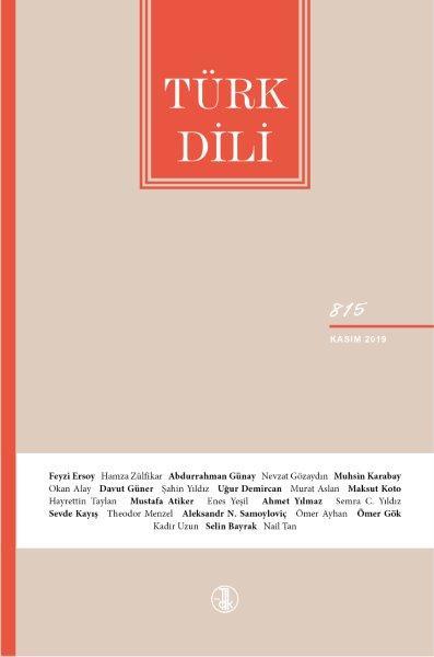 Türk Dili (Kasım 2019), 2019