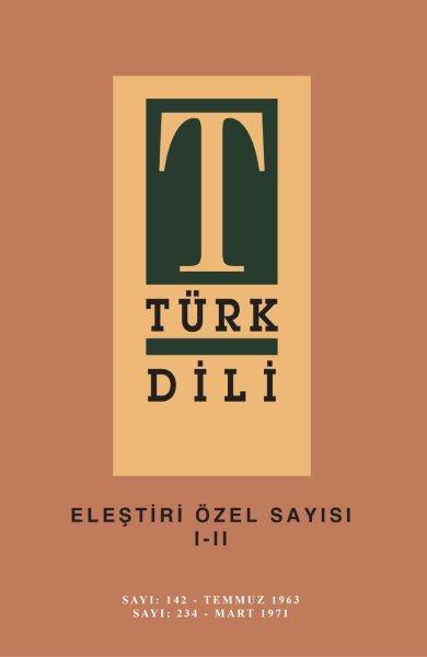 Türk Dili Eleştiri Özel Sayısı 1-2, 2020