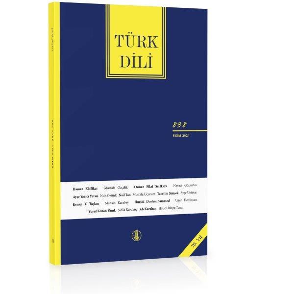 Türk Dili Dergisi Ekim 2021, 2021