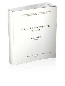Türk Dili Araştırmalar Yıllığı: Belleten 1984, 1987