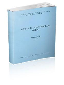 Türk Dili Araştırmaları Yıllığı: Belleten 1985, 1989