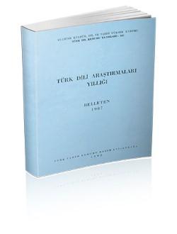 Türk Dili Araştırmaları Yıllığı: Belleten 1987, 1992