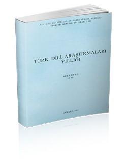 Türk Dili Araştırmaları Yıllığı: Belleten 1990, 1994