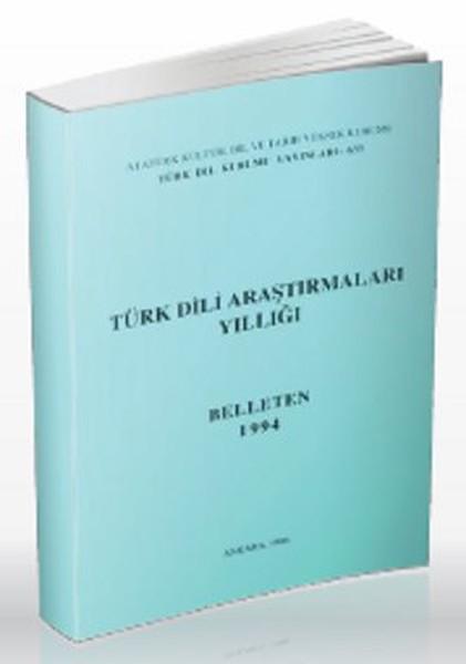 Türk Dili Araştırmaları Yıllığı: Belleten 1994, 1996