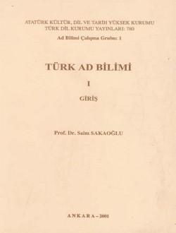 Türk Ad Bilimi I: Giriş, 2001